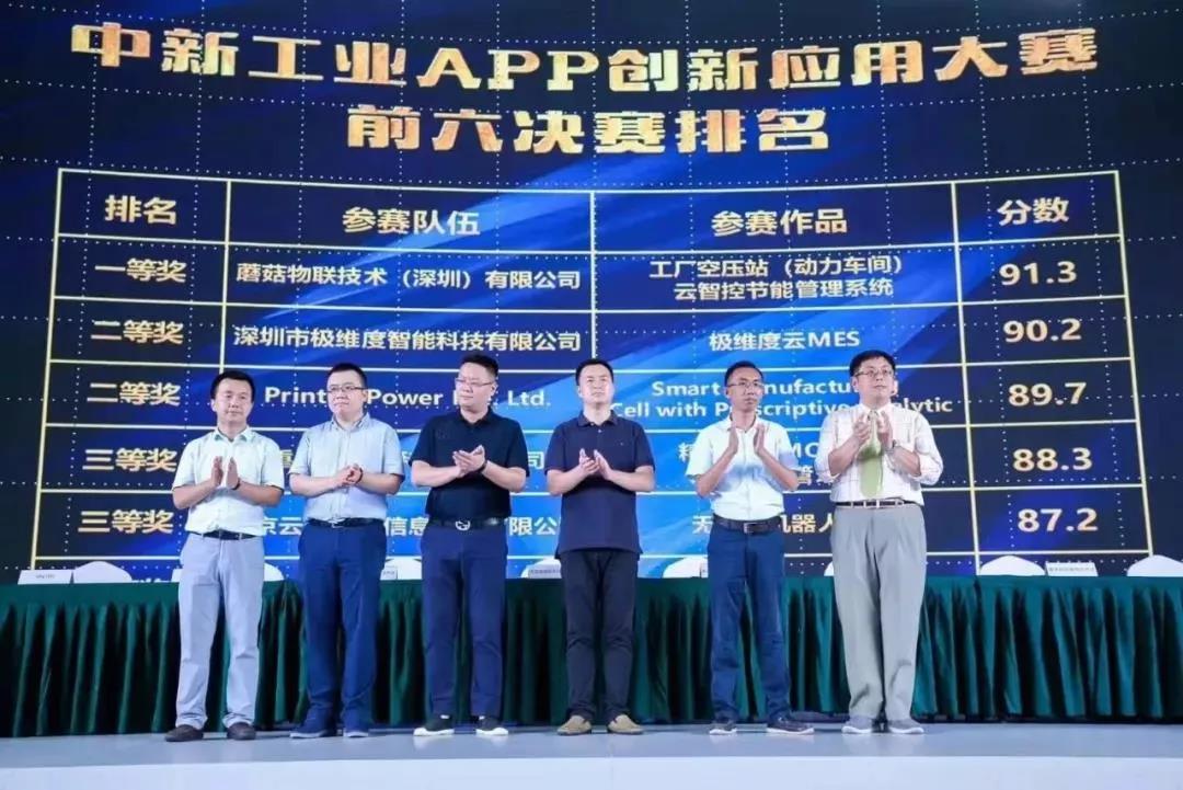 蘑菇物联荣获中新工业APP创新应用大赛一等奖